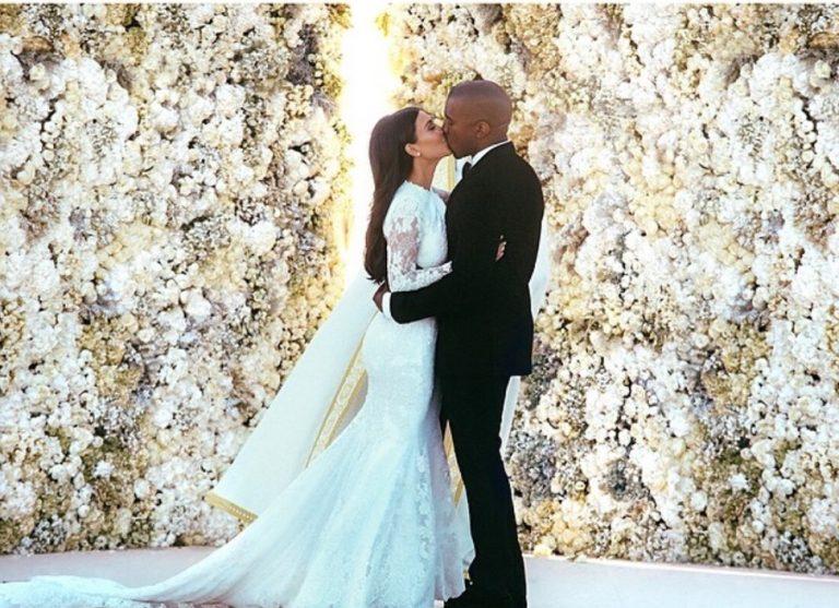Kim kardashian and kanye west wedding dress