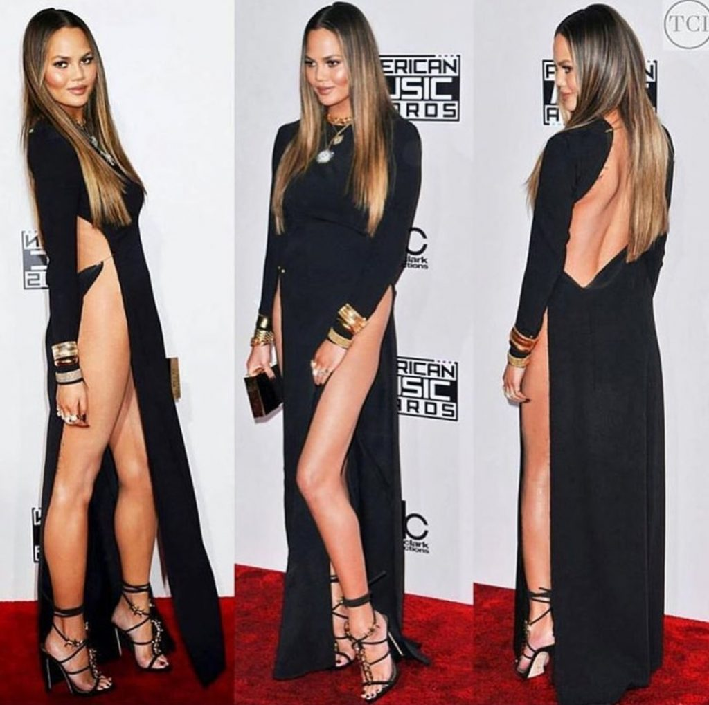 Chrissy Teigen Took Home the Award for Most Naked Dress at