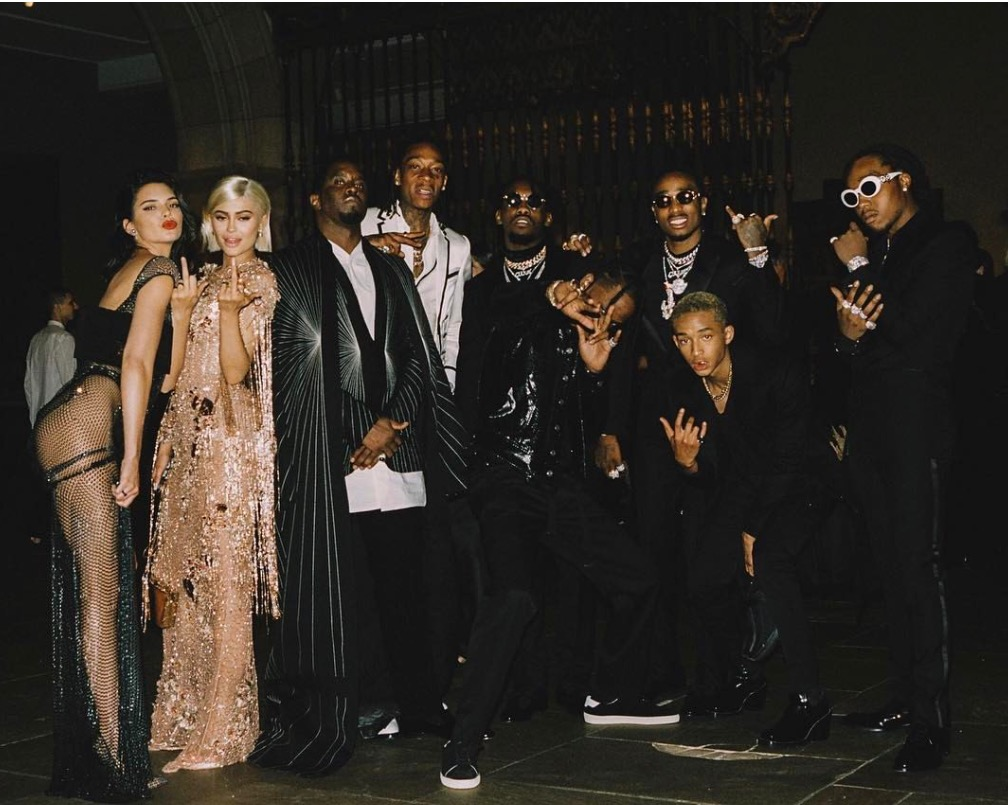 Diddy crop Kylie and Kendall Jenner