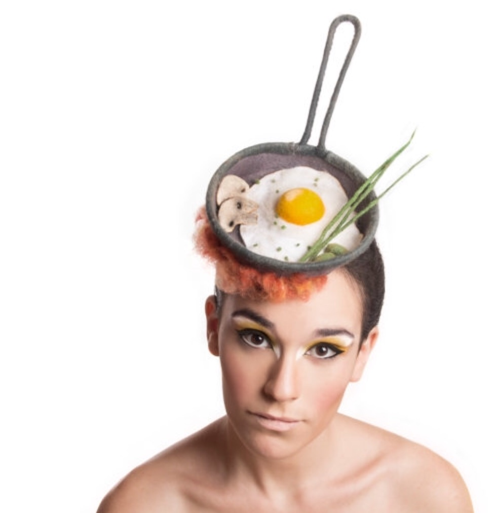 A tasty breakfast fascinator masterpiece