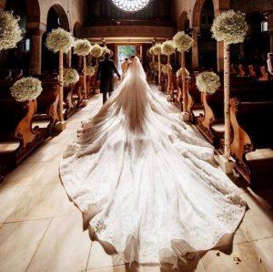 Victoria Swarovski gets married in a £700,000 wedding dress