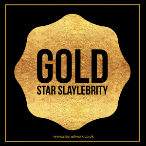 Rank up to slay with a Solid Gold Slaylebrity master card