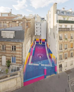 Colorful Paris Basketball Court