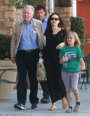 Angelina Jolie enjoys sweet outing with formerly estranged father Jon Voight as they take Vivienne to art class…after ex Brad Pitt brought family feud to an end