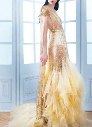 Golden Sheer Mermaid Dress