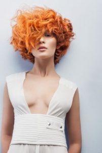 Fiery  orange luxury wig