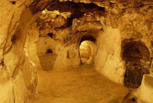 The ancient underground city of Derinkuyu