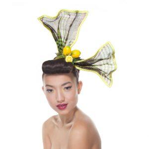Hair Bow Headpiece, Pin-Up Headband, Oversized Bow