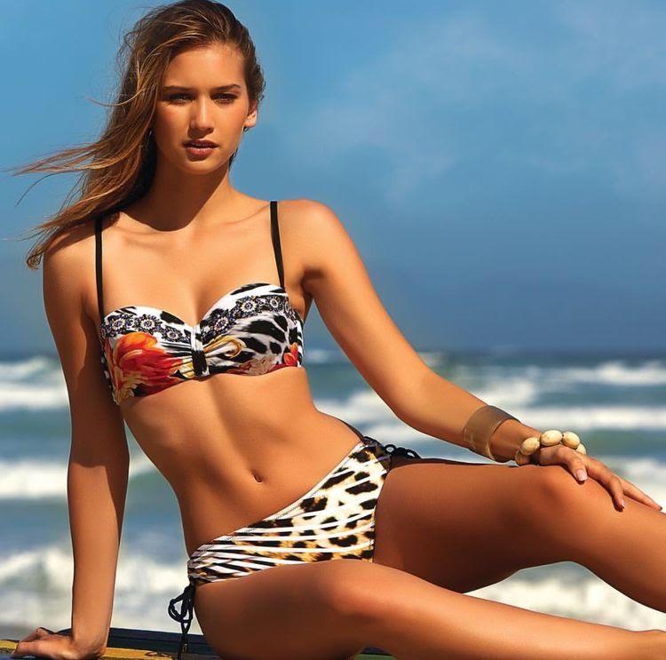 Hot sexy animal print bikini