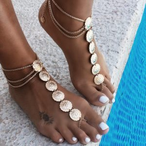 Cannes coin anklet