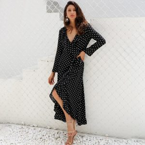 JILL Ruffle Wrap Dress