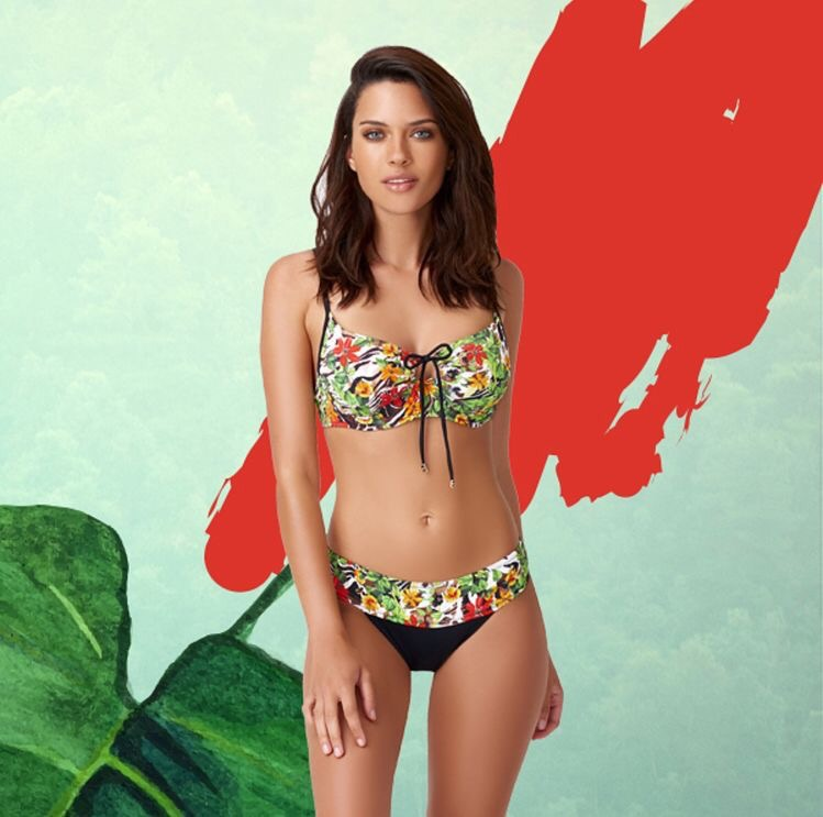 Luxury print bikini