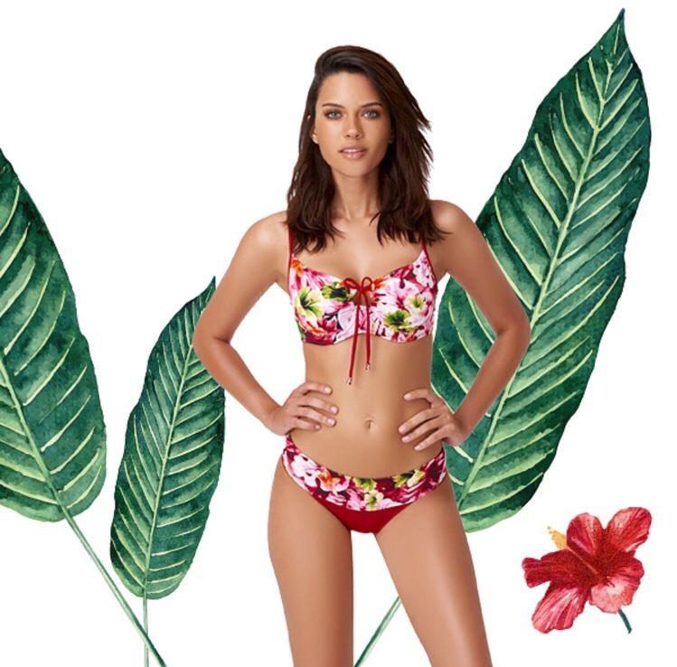 Colourful tropics bikini sets
