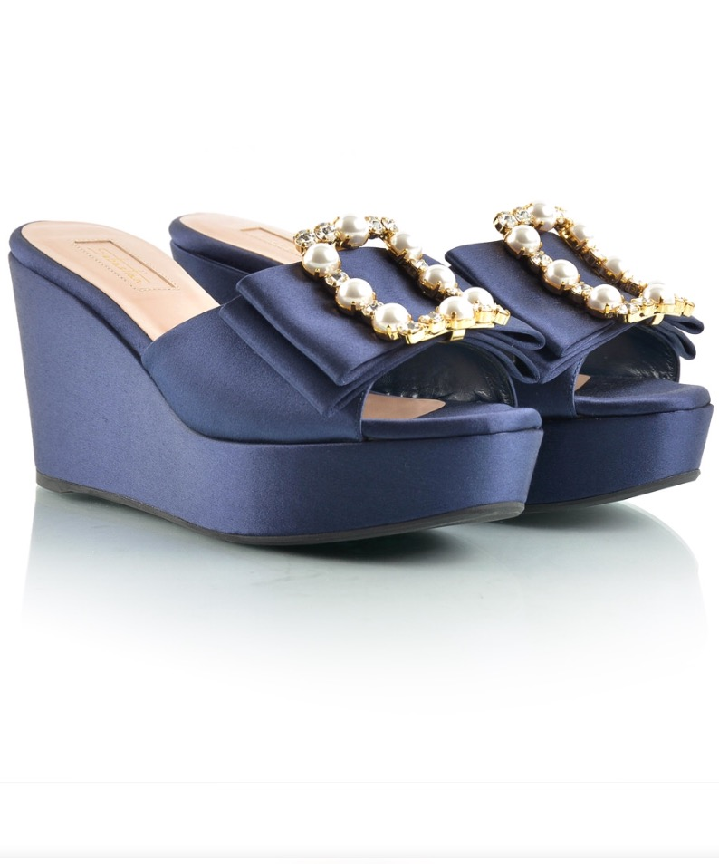 Sebastian Blue Ladies Sandals