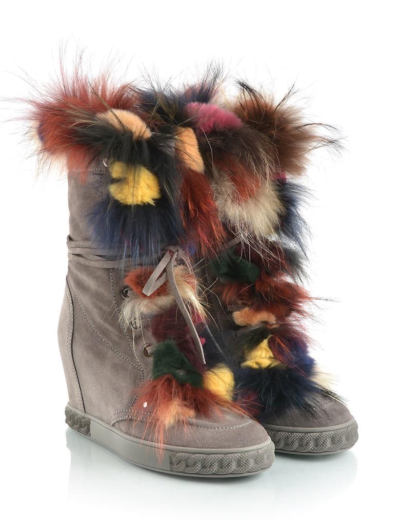 Casedia Gray Suede Ladies Boots