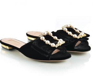 Sebastian Ladies Black Slippers Season W17
