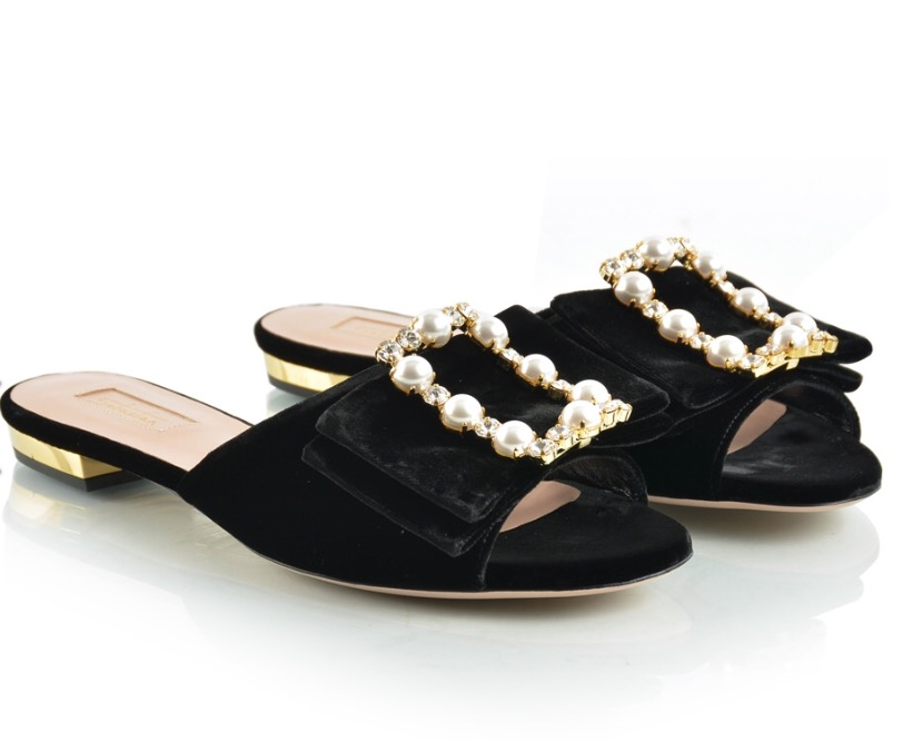 Sebastian Ladies Black Slippers Season W17