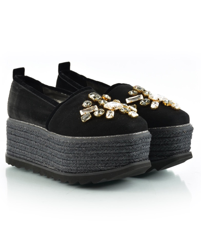 Baldan velvet black sandals