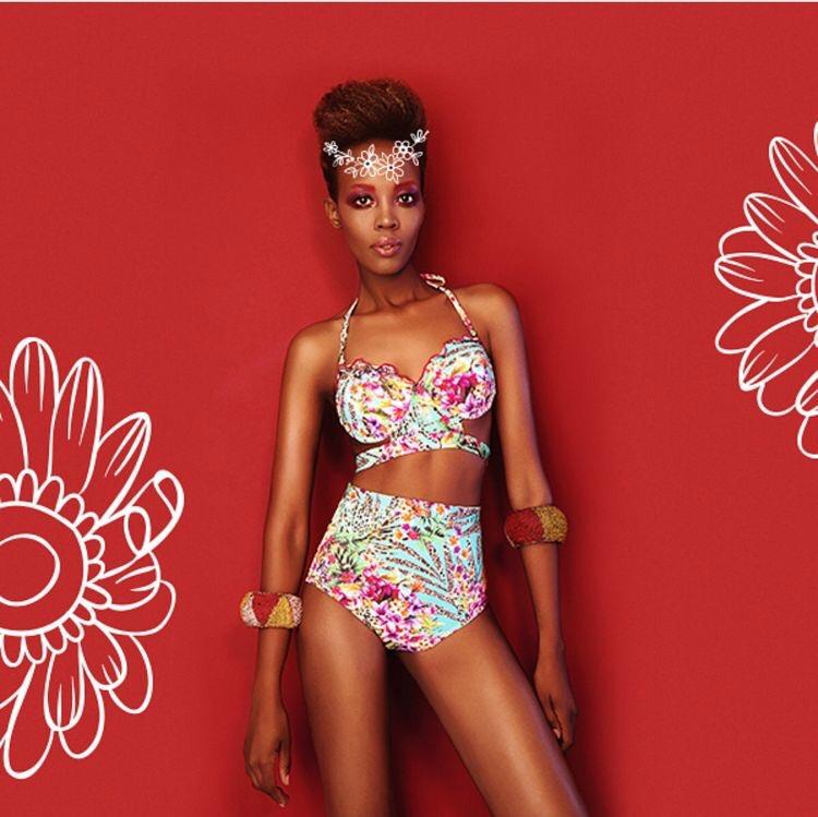 Floral Bandeau Bikini