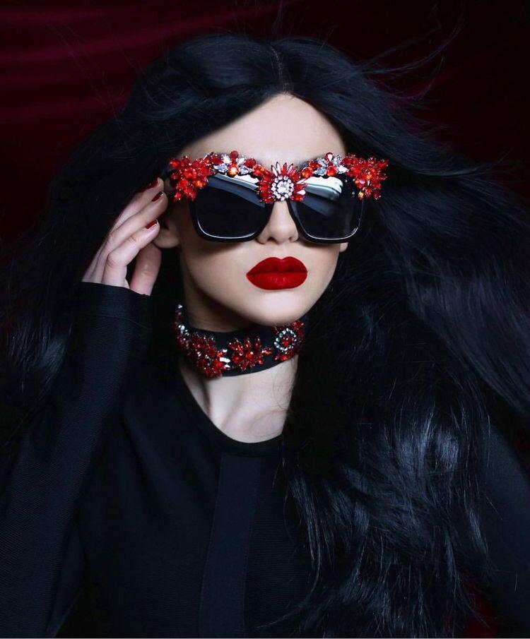 Red couture eyewear