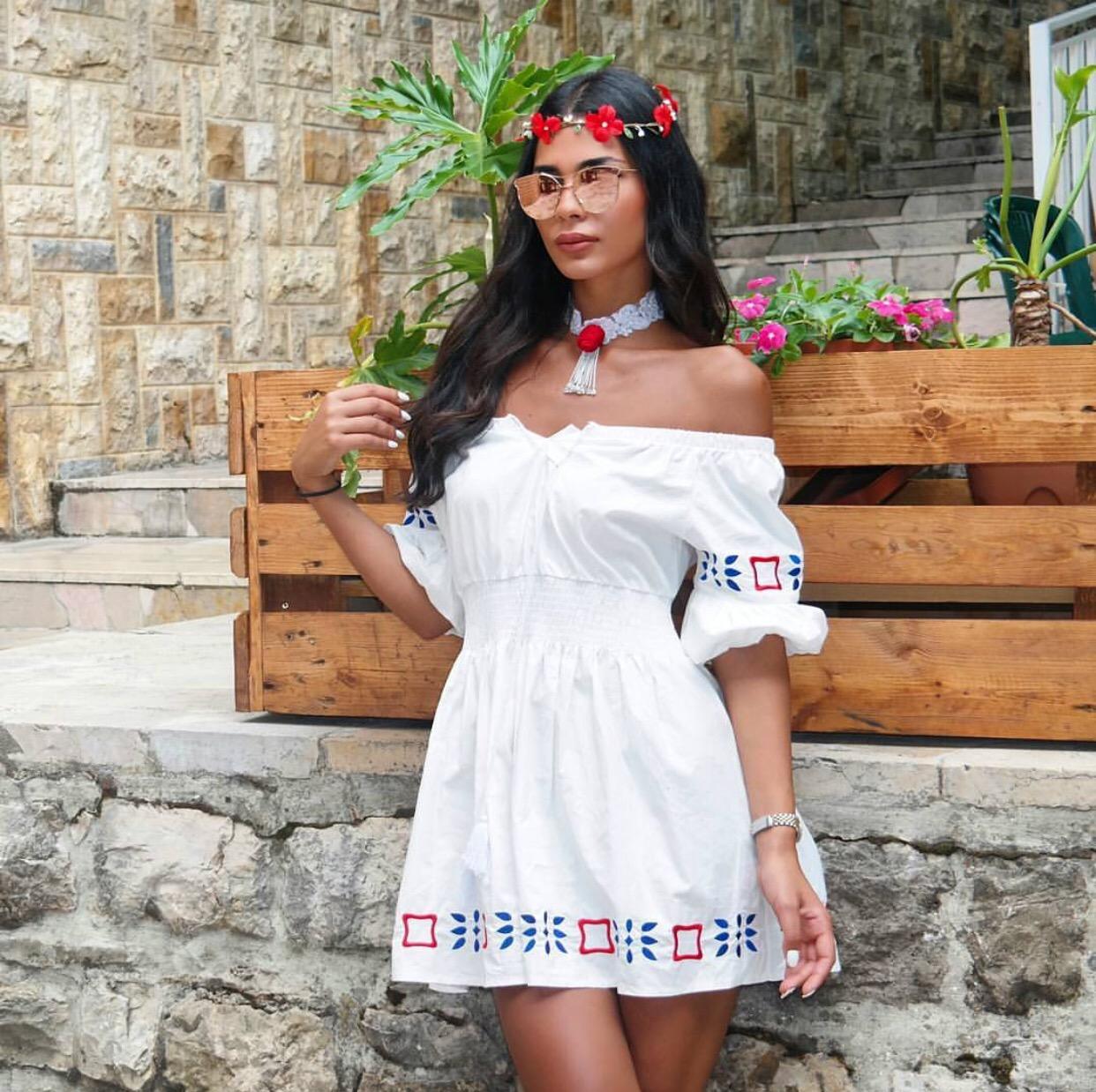 White gypsy dress