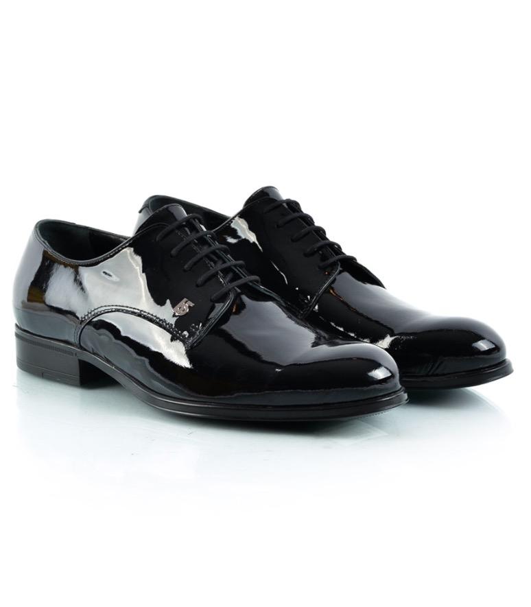 Roberto Botticelli Black Leather Men Shoes