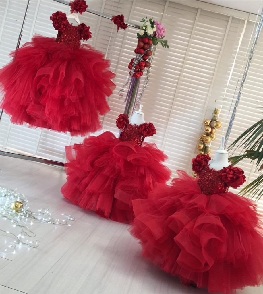 Specially Red couture gown