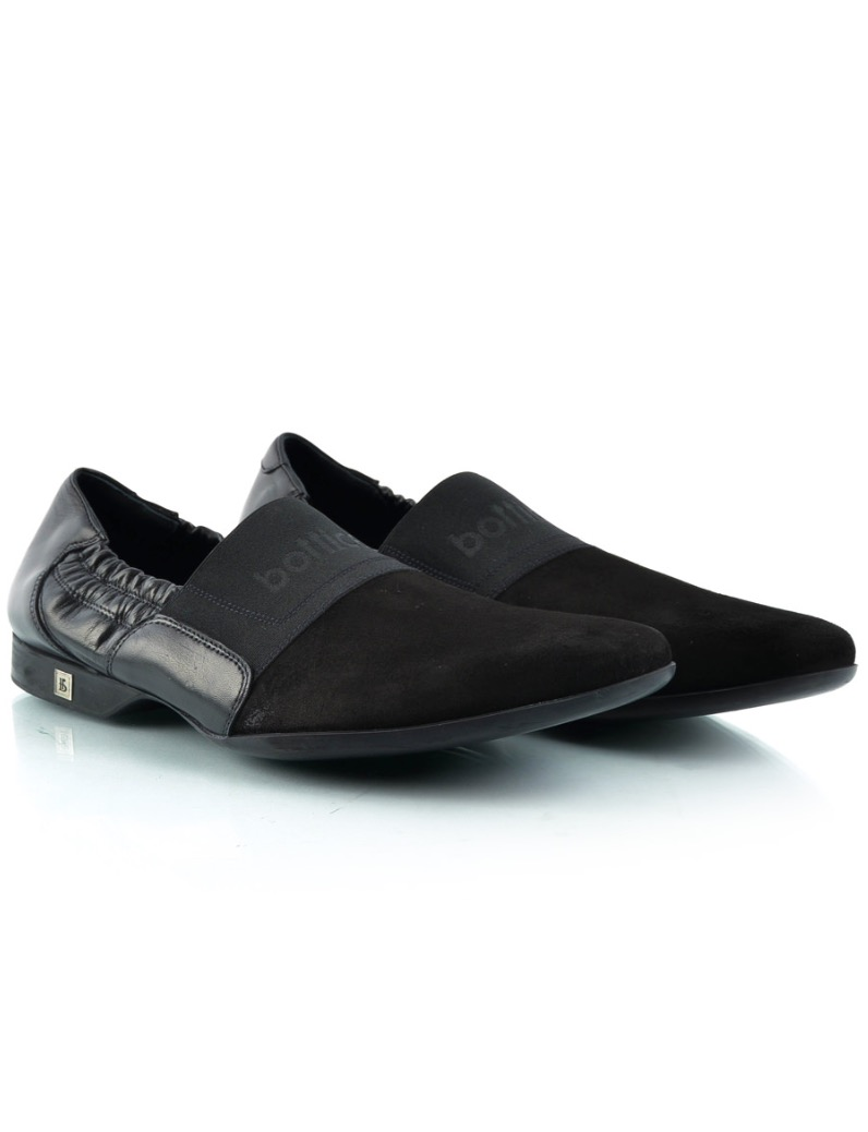 Roberto Botticelli Black Leather Men Shoes