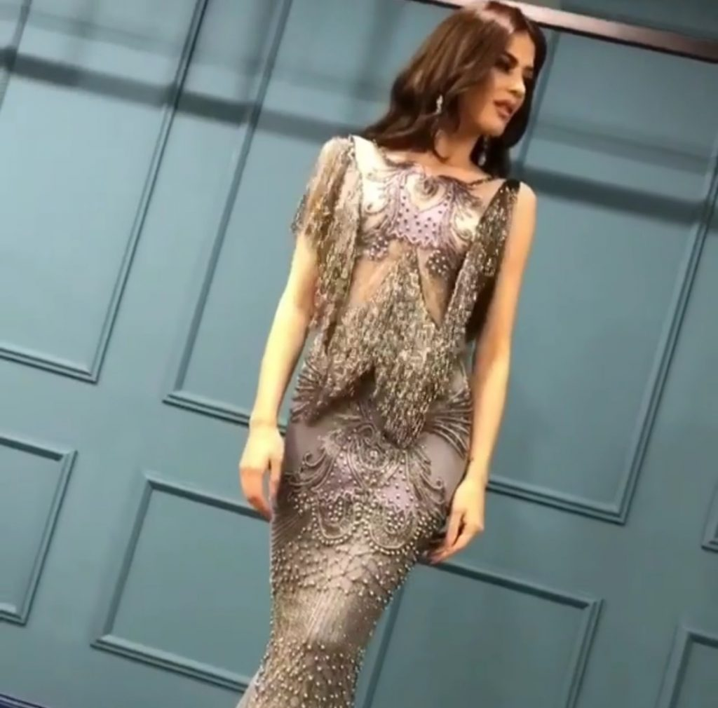 Shimmery evening dress