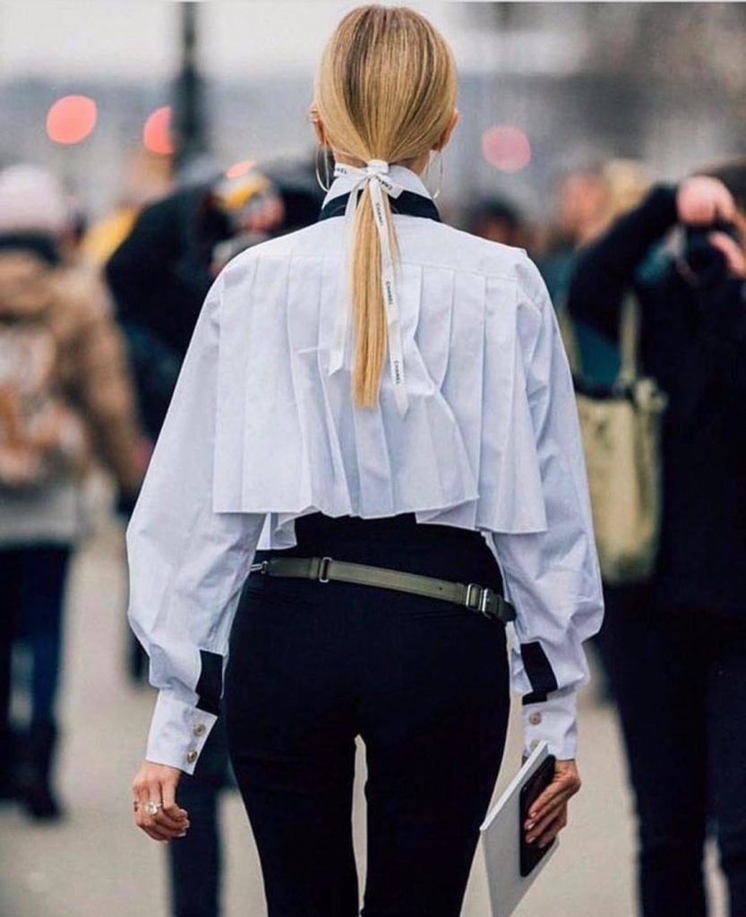 Pleated cape look