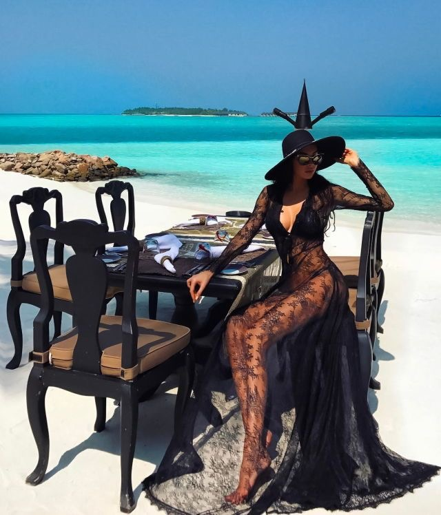 Luxury couture lace swimwear coverup