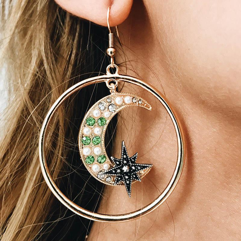 Arlette sun and moon earrings