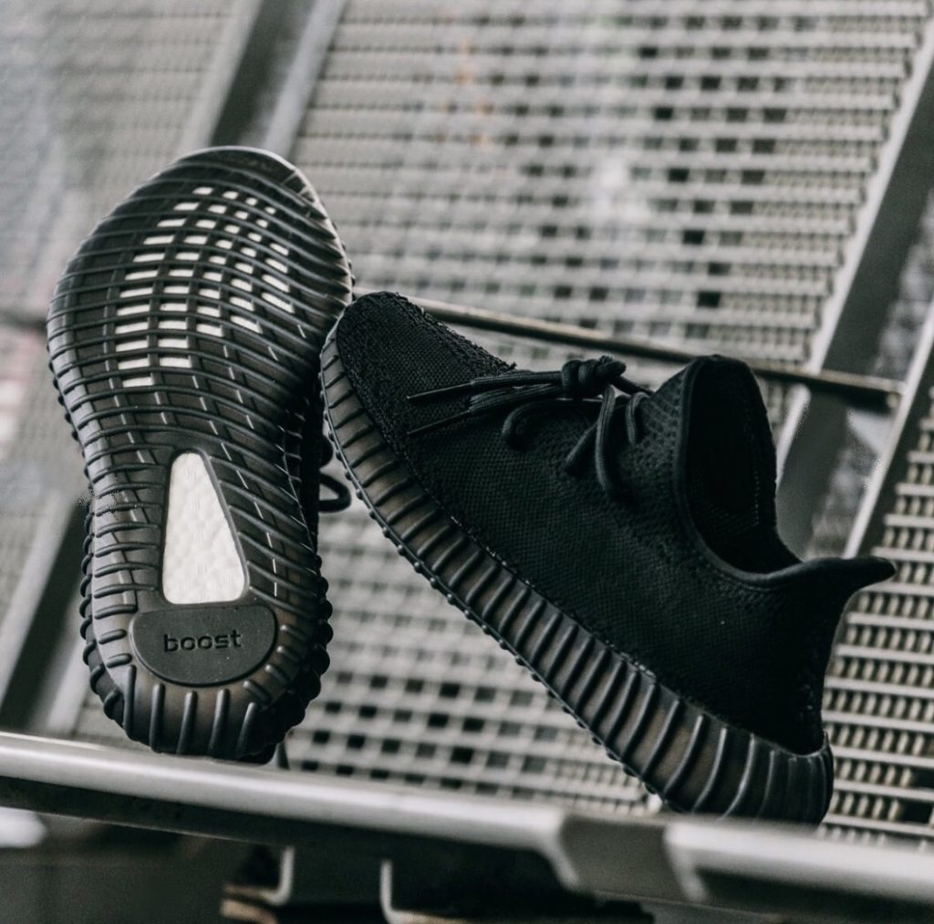 b83715e73235a Yeezy V2 All Black Custom