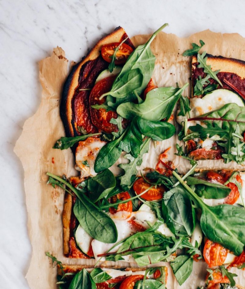 Super easy gluten free pizza crust with chickpea flour and ...