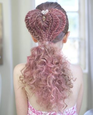 Big braid hairstyles for your bambini
