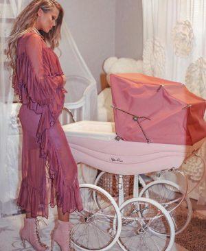 Luxurious pink princess  pram for your bambini