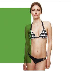 White and black luxury European Swimwear