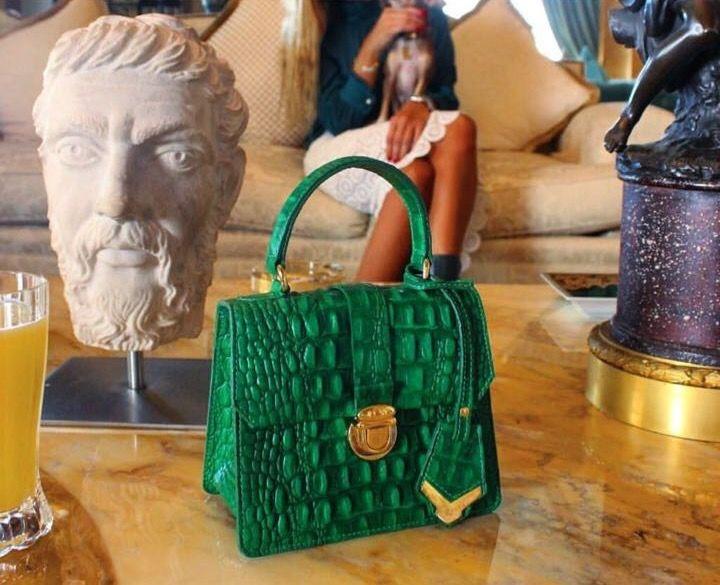 Crocodile box bags