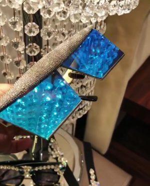 Dazzling blue couture eyewear