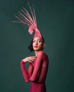Pink Races Hat, Origami Fascinator