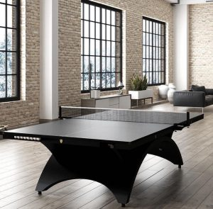 Most luxurious black steel Ping Pong table