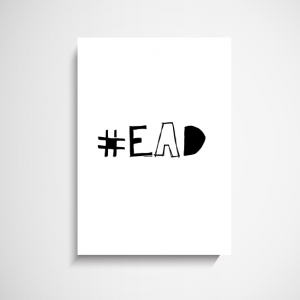 EAT A DICK wall art print