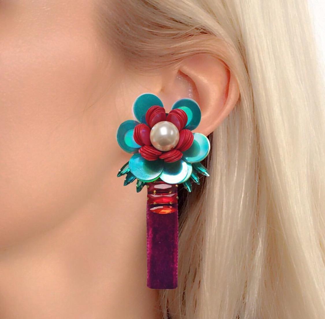 Bloom luxury earrings