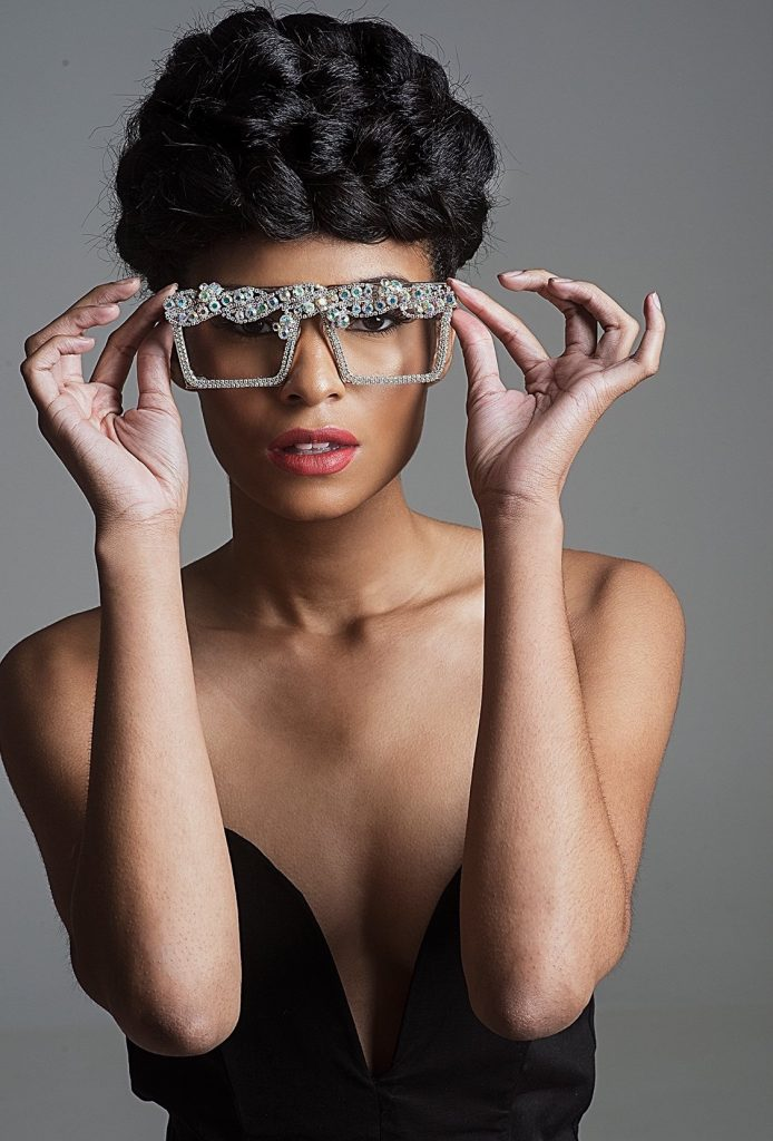 Luxurious sunglasses frame