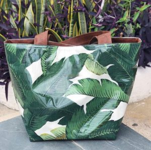 Luxury palm tote bag