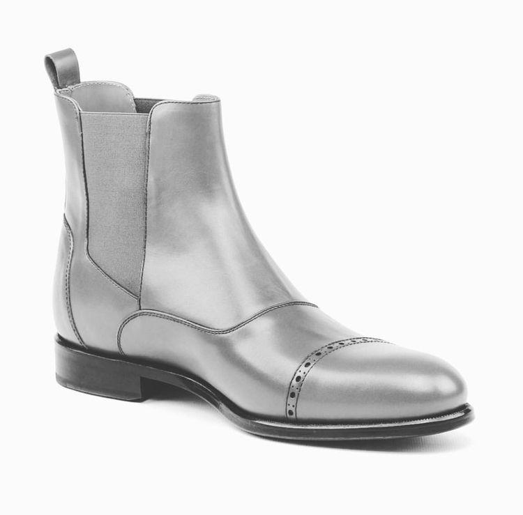 Men's luxury silver boots