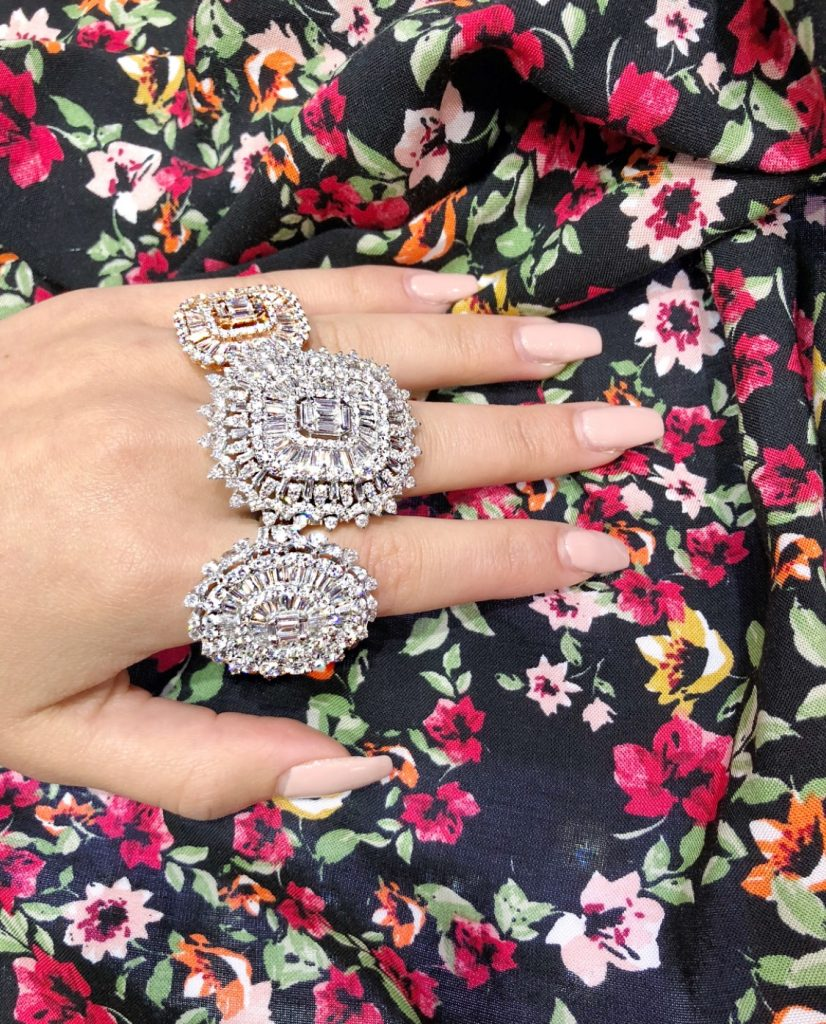 This is what wearing over  $60 million worth of jewellery looks like.