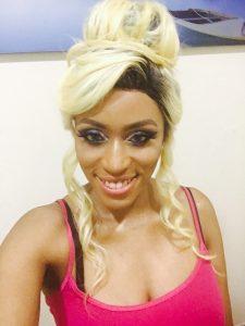 Blonde full silk cap wig with dark roots