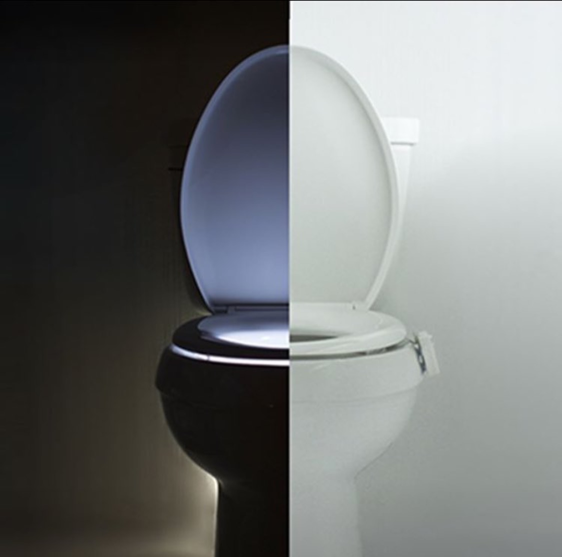 Illuminate your toilet seat in the coolest way possible