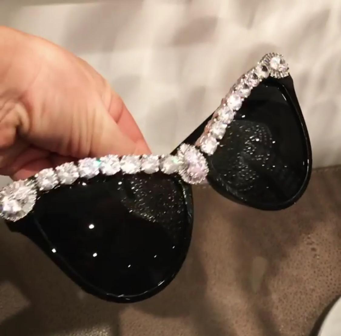 c0a73a7c13 Black swarovski crystal sunglasses